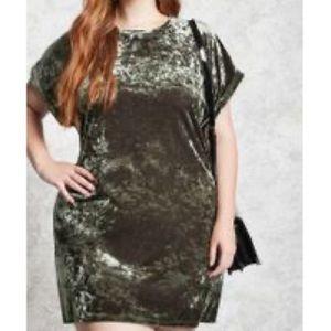 Forever 21 Plus Crushed Velvet Holiday Mini Dress